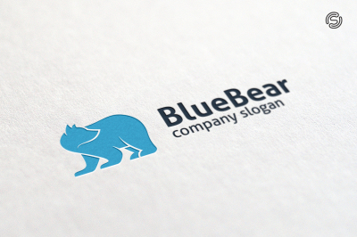 Blue Bear Logo Template