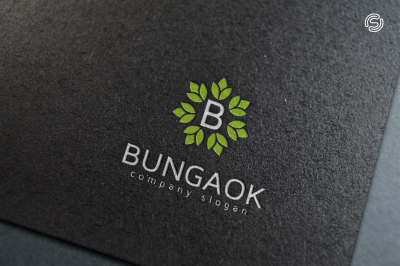 Bungaok Logo Template