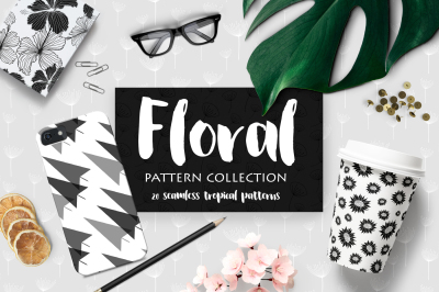 Tropical Floral Patterns Collection