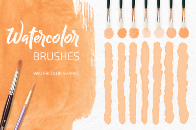 21 Watercolor Rastr & Vector Brushes