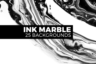 25 Ink marble backgrounds