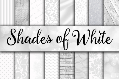 Shades of White Digital Paper Textures