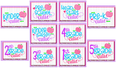 School Cutie SVG Bundle Kindergarten First Day of School SVG and DXF Files Silhouette Studios Cameo Cricut, Instant Download Scal