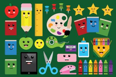 Cute Classroom Back to School Clip Art Set