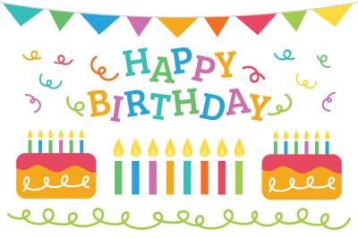 Happy Birthday Party Clip Art Set
