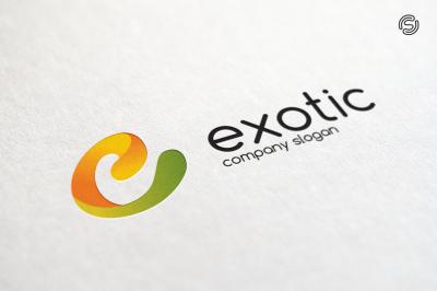 Exotic - Letter e Logo Template