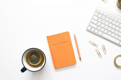 Orange Motivational Journal + Keyboard