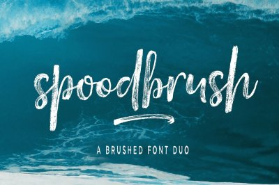 Spoodbrush - Font Duo