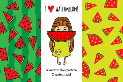 Set watermelon patterns