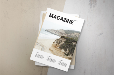 Magazine template 44 pages