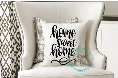 Home Sweet Home - Hand lettered SVG