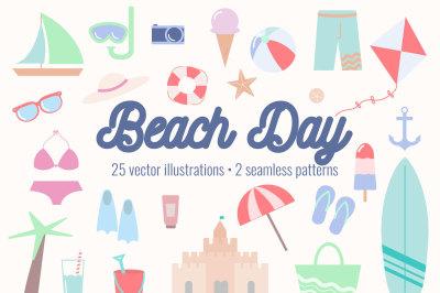 Beach Day Graphics Bundle