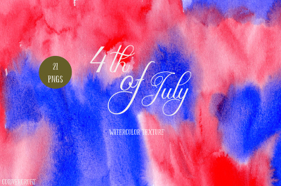 Watercolor Texture 4th of July