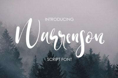 Warrenson Script Font