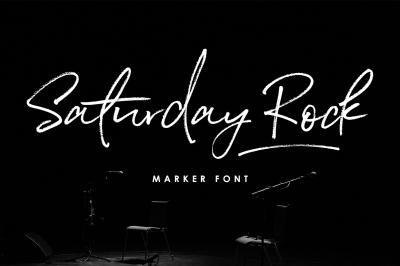 Saturday Rock Script Font