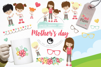 Mother's Day illustrations and graphics