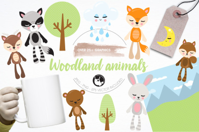 Woodland animals illustrations and graphics