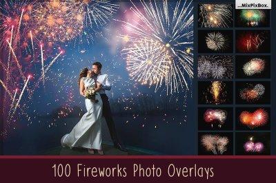 100 Fireworks Overlays