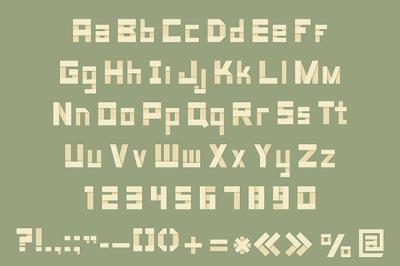Origami alphabet letters