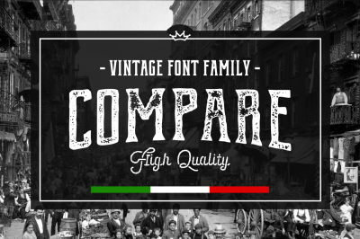 Compare • Vintage font family