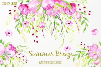 Watercolor Clipart Summer Breeze