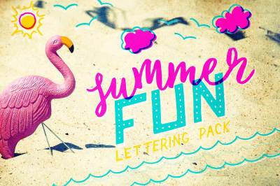 Summer Fun Lettering Pack