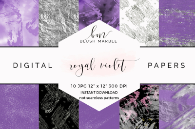 Digital paper - royal violet