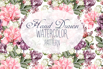 10 Hand Drawn Watercolor Pattern
