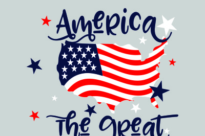 4th of July  SVG, DXF, EPS, and Jpg Files for Cutting Machines Cameo or Cricut - July 4th svg, America Svg, Patriotic Svg