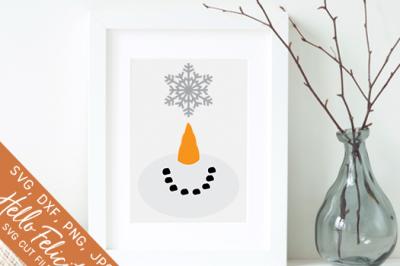 Winter Snowman Snowflake SVG Cutting Files