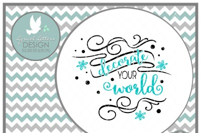 Decorate Your World LL204 D Cut-File in SVG DXF EPS AI JPG PNG