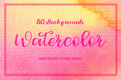 50 Watercolor Backgrounds 06