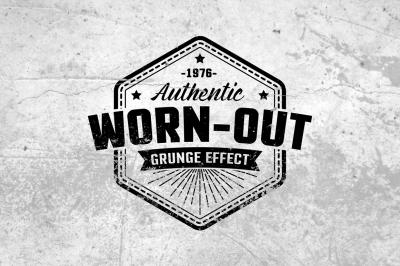 Worn out grunge mockup set