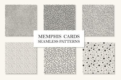 Memphis seamless patterns/cards