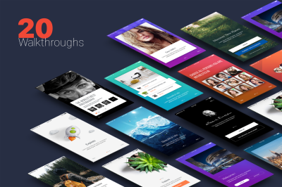 Walkthroughs - Mobile Template UI