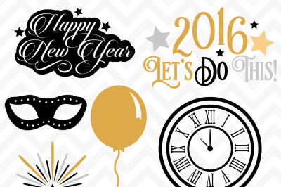 SVG DXF New Years Eve Party Cuttables