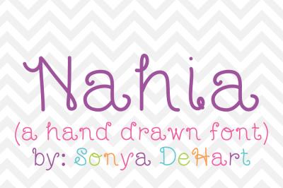 Font: Nahia by Sonya DeHart