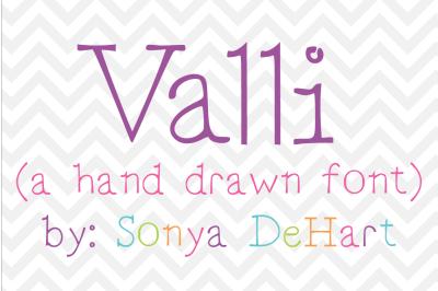 Font: Valli by Sonya DeHart