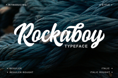 Rockaboy Typeface with 4 Style