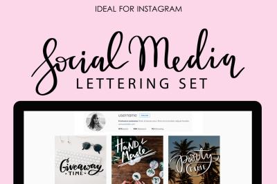 Social Media Lettering Set