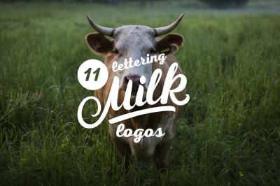 11 Milk Lettering Logos