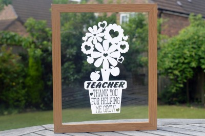 Teacher Paper Cut SVG / DXF / EPS Files