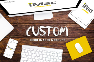 Custom Hero Images Mockups