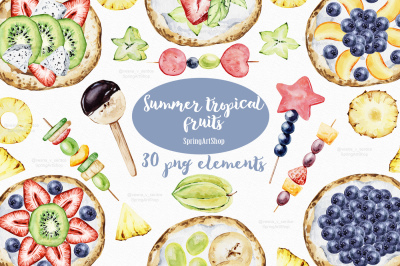 Summer party Exotic tropical fruit creator