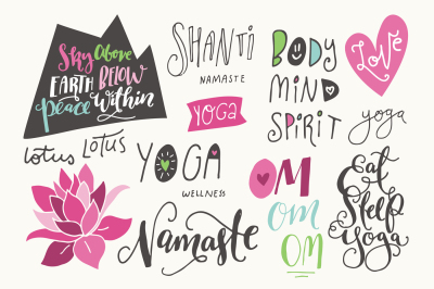 30% OFF *** Yoga Phrases & Lotus Flowers