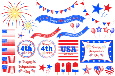USA 4th July Independence Day Clipart