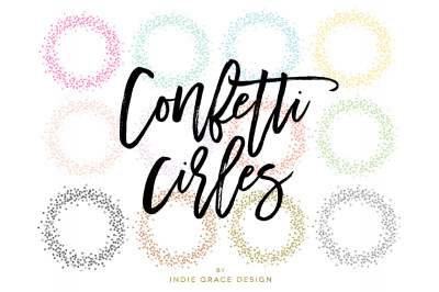 Colored & Gold Foil, Rose Gold Foil, Silver Foil Glitter Confetti Circle Colors & Metallics