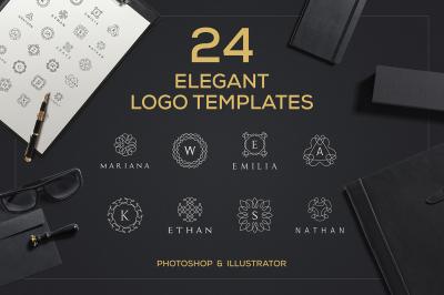 24 Elegant Logo Template