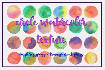 72 Circle Watercolor Textures