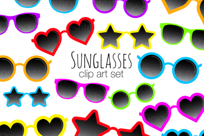 Funky Sunglasses Clipart Set